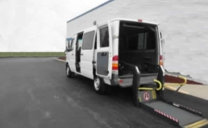 Dodge Sprinter wheelchair vans with rear entry are great for commerical disability tranportation