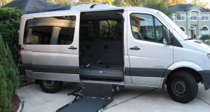 2007 Dodge Sprinter with side entry wheelchair lift