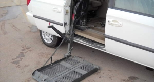 Dodge Caravan with side wheelchair lift can possibly block access in emergencies