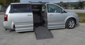 Dodge Grand Caravan with side ramp entry