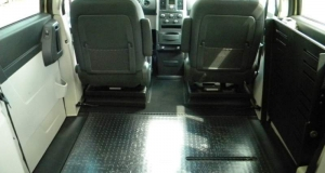 Dodge Caravan wheelchair van with all seats removed