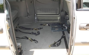 Dodge Caravan wheelchair van with 4-point tie downs for wheelchairs